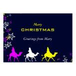 Reyes del navidad plantilla de tarjeta de visita