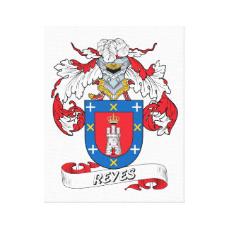 Reyes Family Crest Canvas Print