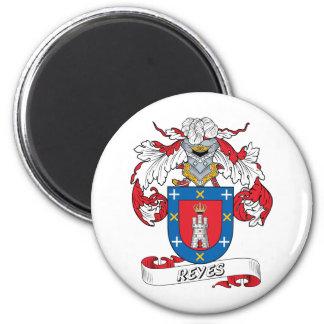 Reyes Family Crest 2 Inch Round Magnet