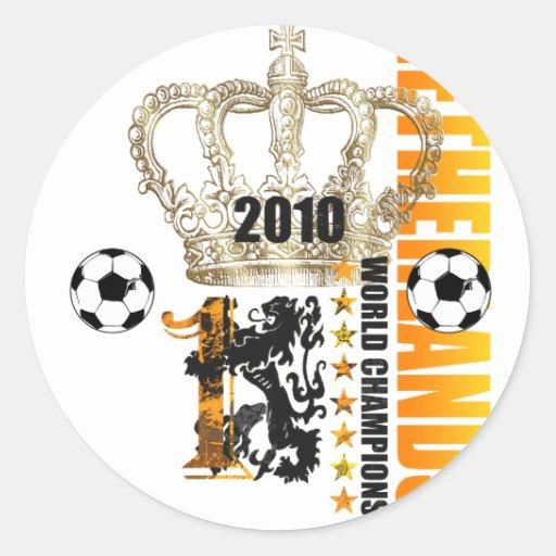Reyes holandeses del campeón del mundo de Voetbal Pegatina Redonda