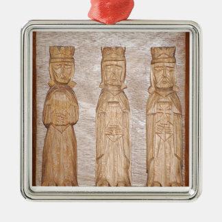Reyes Magos/Three Kings Square Metal Christmas Ornament