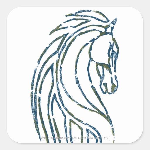 Reyes Pasillo Banner de Rohan Pegatinas Cuadradas Personalizadas