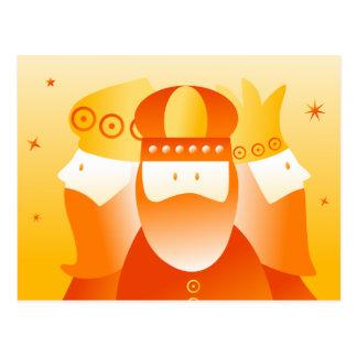 Reyes retros tarjeta postal