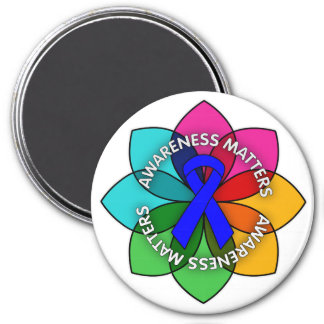 Reye's Syndrome Awareness Matters Petals 3 Inch Round Magnet