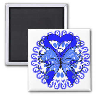 Reye's Syndrome Butterfly Circle of Ribbons 2 Inch Square Magnet
