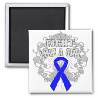 Reyes Syndrome Fight Like A Girl Fleurish 2 Inch Square Magnet