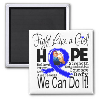 Reye's Syndrome Fight We Can Do It 2 Inch Square Magnet