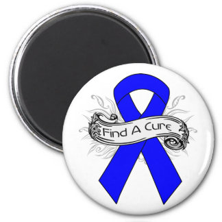 Reye's Syndrome Find A Cure Ribbon 2 Inch Round Magnet