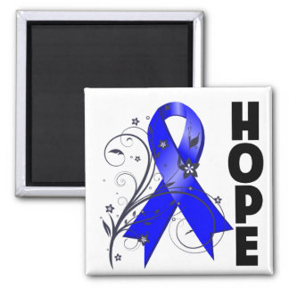 Reye's Syndrome Floral Hope Ribbon 2 Inch Square Magnet