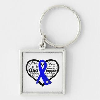 Reye's Syndrome Heart Ribbon Collage Key Chain