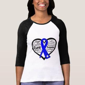 Reye's Syndrome Heart Ribbon Collage T Shirt