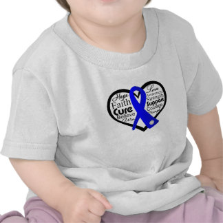 Reye's Syndrome Heart Ribbon Collage Tshirt