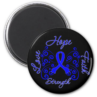 Reye's Syndrome Hope Motto Butterfly 2 Inch Round Magnet