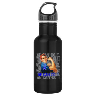 Reye's Syndrome Rosie WE CAN DO IT 18oz Water Bottle