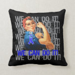 Reye's Syndrome Rosie WE CAN DO IT Throw Pillow