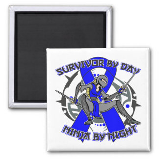 Reyes Syndrome Survivor By Day Ninja By Night 2 Inch Square Magnet