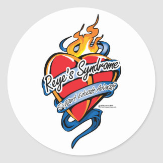 Reye's Syndrome Tattoo Heart Classic Round Sticker