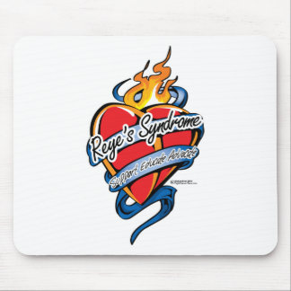 Reye's Syndrome Tattoo Heart Mouse Pad