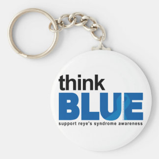 Reye's Syndrome Think Blue Keychain