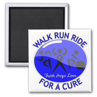 Reye's Syndrome Walk Run Ride For A Cure 2 Inch Square Magnet