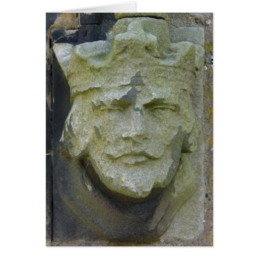 Reyes tallados Head, Inglaterra Tarjeta De Felicitación