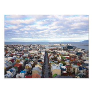 Reykjavik Cityscape // Reykjavik, Iceland Photograph