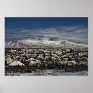 Reykjavik en Winterdress Posters