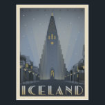 "Reykjavik, Iceland Postcard<br><div class=""desc"">Anderson Design Group is an award-winning illustration and design firm in Nashville,  Tennessee. Founder Joel Anderson directs a team of talented artists to create original poster art that looks like classic vintage advertising prints from the 1920s to the 1960s.</div>"