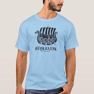 Reykjavik Iceland t-shirt with vikings in drekar