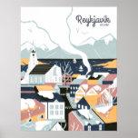 """Reykjavik, Iceland Vintage Travel Poster<br><div class=""""desc"""">Reykjavik,  Iceland Vintage Travel Poster</div>"""
