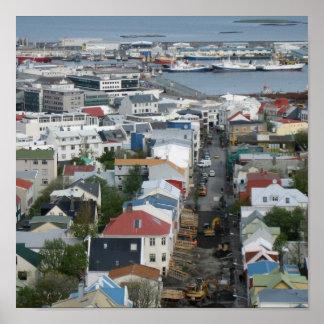 Reykjavik rooftops poster