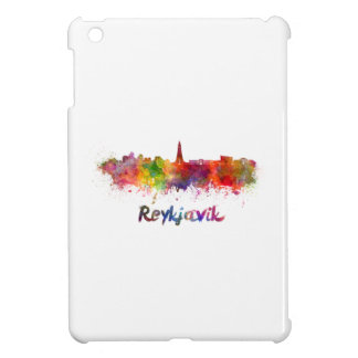 Reykjavik skyline in watercolor iPad mini covers