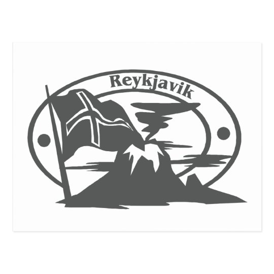 Reykjavik Stamp Postcard