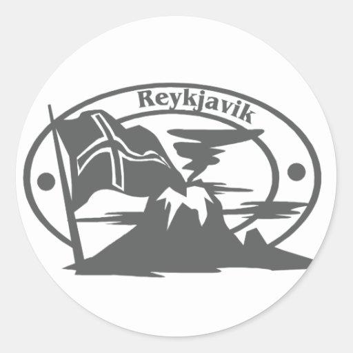 Reykjavik Stamp Sticker