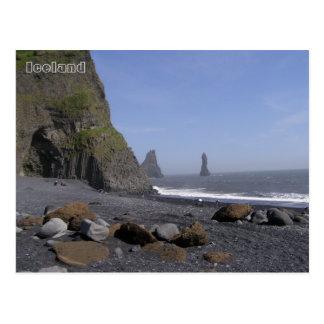 Reynisdrangar, playa de Reynisfjara, Islandia Postal