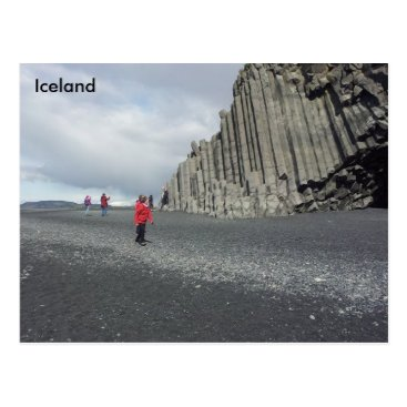 Beach Themed Reynisfjara black sand beach, Iceland Postcard