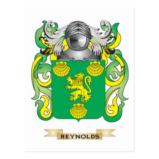 Reynolds Coat of Arms (Family Crest) Postcard