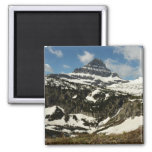 Reynolds Mountain from Logan Pass at Glacier Park 2 Inch Square Magnet