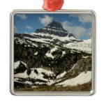 Reynolds Mountain from Logan Pass at Glacier Park Metal Ornament