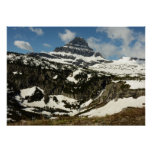 Reynolds Mountain from Logan Pass at Glacier Park Poster