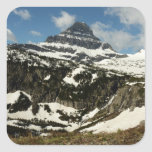 Reynolds Mountain from Logan Pass at Glacier Park Square Sticker