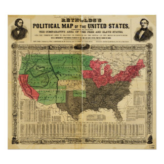 Reynolds Political Map of the United States Poster