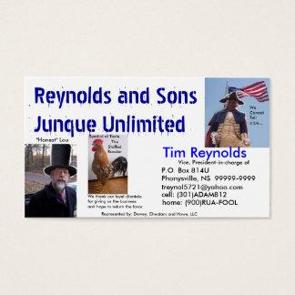 Reynolds&Sons Junque Unlimited Bidnis Card