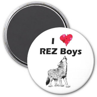 REZ boys 3 Inch Round Magnet