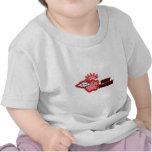 rez rojo del logotipo santo del fumador alto camiseta