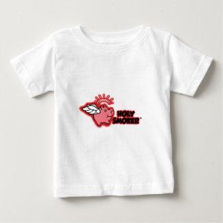 rez rojo del logotipo santo del fumador alto playera de bebé