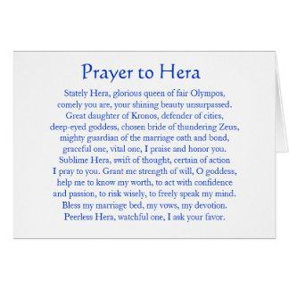 Rezo a Hera Tarjetas