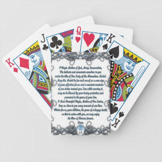 Rezo a la medalla milagrosa baraja de cartas