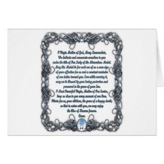 Rezo a la medalla milagrosa tarjeta de felicitación
