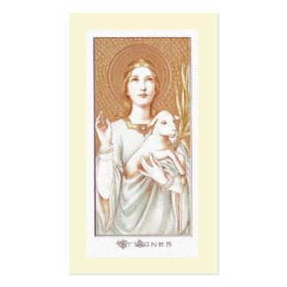 Rezo a la tarjeta santa de Inés del santo Plantillas De Tarjetas De Visita